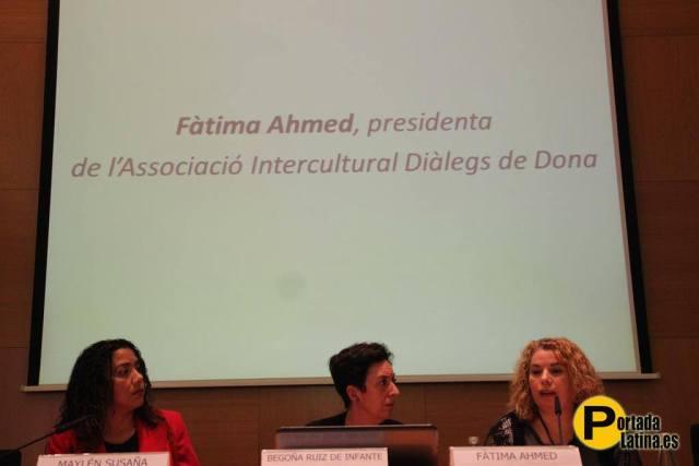 Emprenedoria i Autoocupació per a dones immigrants Fàtima Ahmed octubre 2014 taula rodona  Confederació de Comerciants de Catalunya