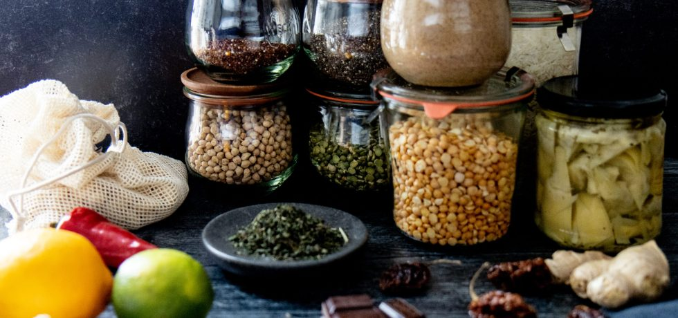 Ingredients for a healthy pantry