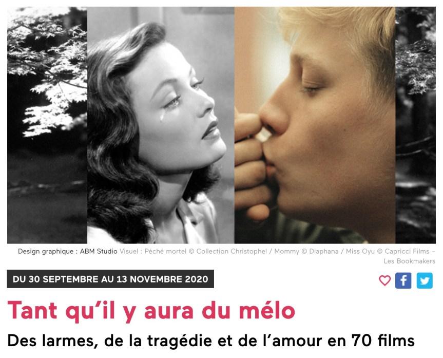 "Forum des Images'daki ""Tant qu'il y aura du mélo"" Gösterimleri ve Tür Olarak MELODRAM"