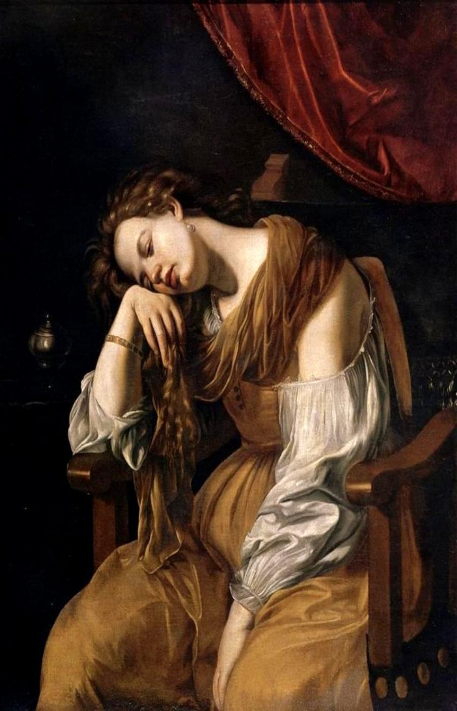 Artemisia Gentileschi. María Magdalena como Melancolía (Sala del Tesoro, catedral de Sevilla, España).