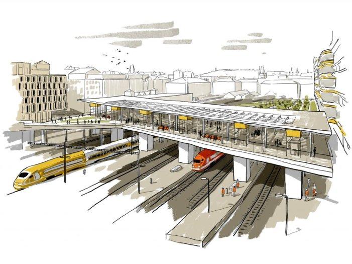Überbauung des Kopfbahnhofs Masaryk (C) Penta Real Estate