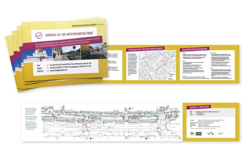 Folder Infoveranstaltung Lückenschluss Wientalradweg