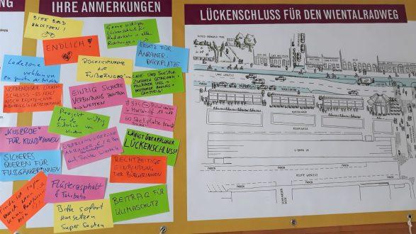 Ausschnitt des hinterlassenen Feedbacks vom BürgerInnen-Dialog
