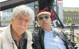 سعید یوسف (راست) و نسیم خاکسار (چپ)، لیدن هلند، 2015.