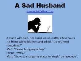 Husband-and-Wife-Jokes-A-Man-sad-on-wifes-death-Jokes-in-English