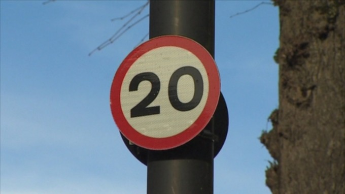 Picture of a 20mph sign