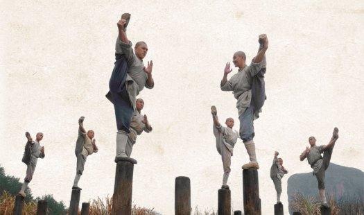 Shaolin Monks on a pole