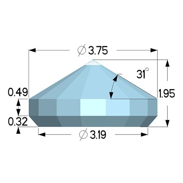 Type IIac Diamond Anvils - Standard Modified