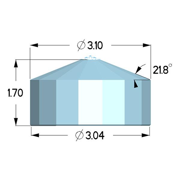 Type IIac Diamond Anvils - Diacell Design
