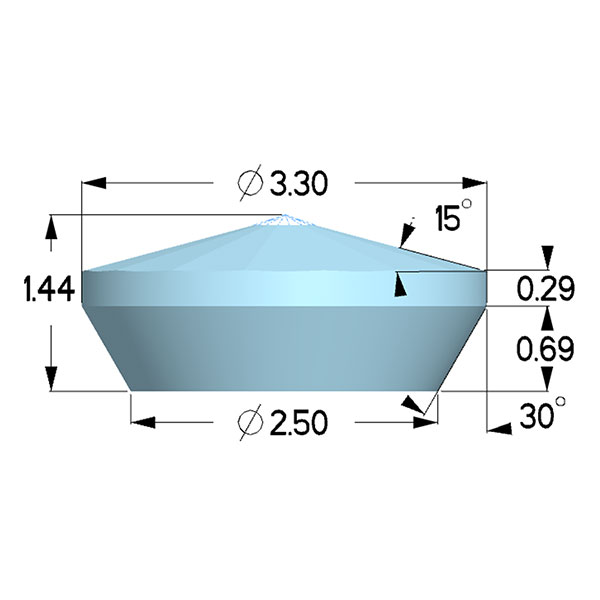 Type 1a; Boehler Almax Design; X=3.30mm, 85deg