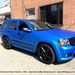 Jeep Grand Cherokee Srt8 Wrapped In Matte Blue Aluminum By Dbx Diamond Black Exteriors Dbx Wraps