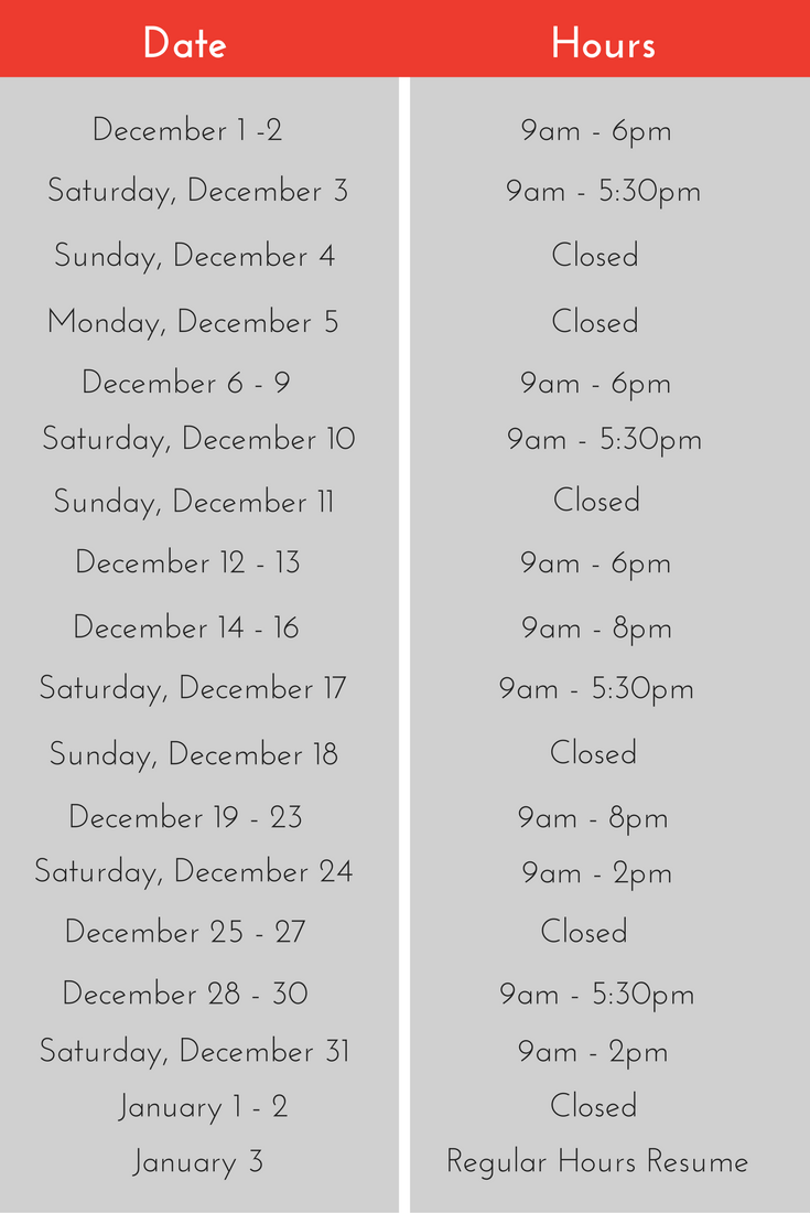 diamond design holiday hours