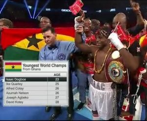 ISAAC DOGBOE IS GHANA'S YOUNGEST WORLD CHAMPION