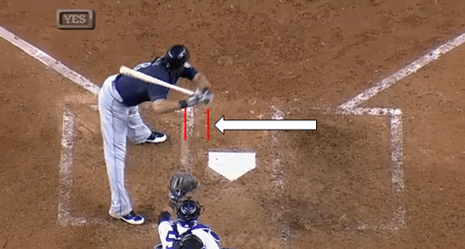 Check out the gap between the called third strike and home plate