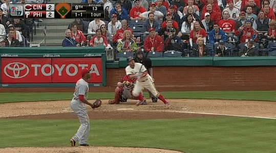 Freddy Galvis ran into one to steal the series for the Phillies