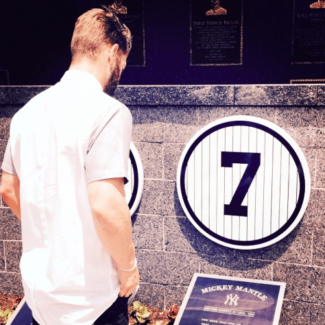 Bryce Harper checking out the monuments before today's game.