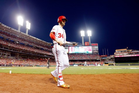 Bryce Harper went 0 for 3 in his third All Star Game, facing three lefties.