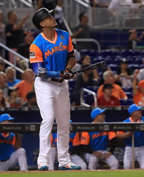 buy popular 05d72 d1d73 Giancarlo Stanton has 49 Home Runs – Diamond Hoggers