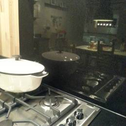 Ensure your kitchen adheres to Australian Standards: This gas cooktop is installed against regulation as it is installed within 200mm of a combustible surface (composite stone splashback).