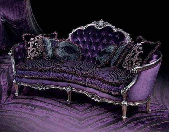 gothic-furniture-victorian-sofa-with-black-and-velvet-purple-fabrics