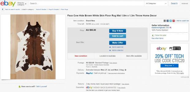 Cow Hide Rug_Ebay Scam