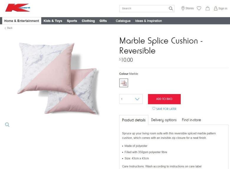 Marble Splice Cushion_Kmart