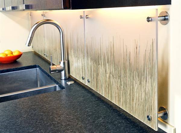 custom grass splash back