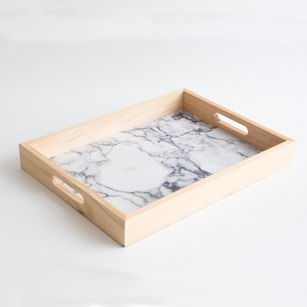 Marble and Timber Tray