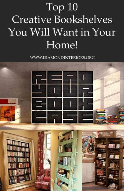Top 10 Creative Bookshelves You Will Want in Your Home by Diamond Interiors