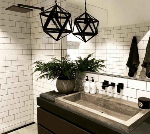 Black tapware bathroom