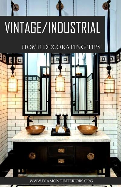 Vintage Industrial Home Decorating Tips by Diamond Interiors