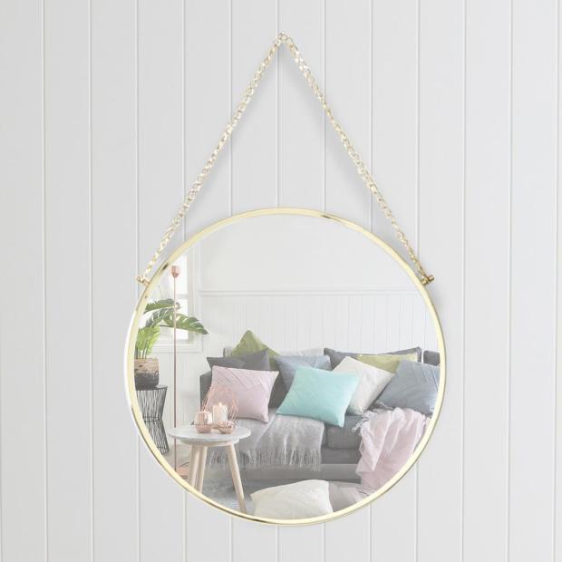Round Mirror Gold Frame
