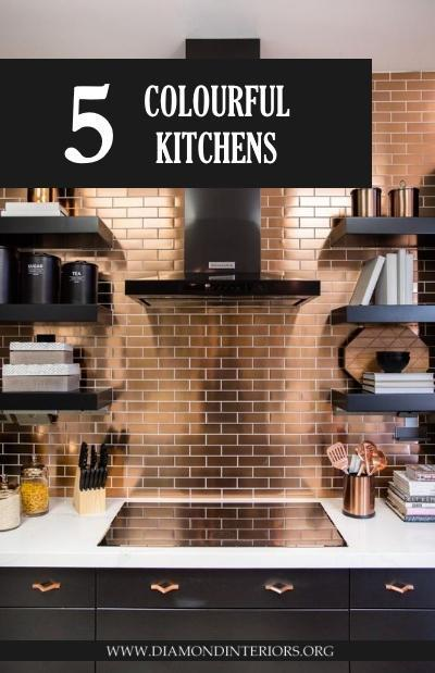5 Colourful Kitchens_Blog by Diamond Interiors