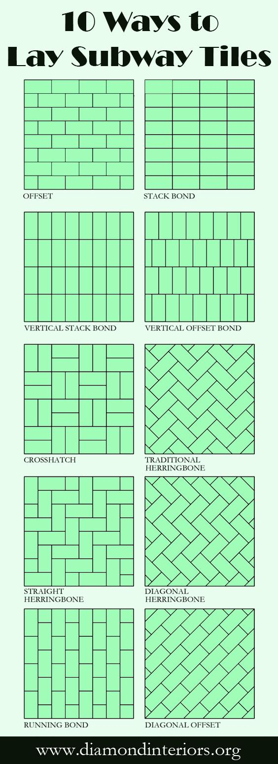 10 Ways to Lay Subway Tiles_Blog by Diamond Interiors