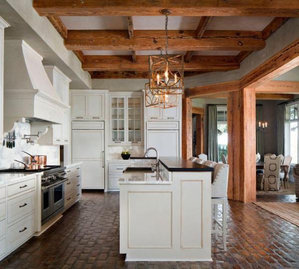 rustic timber kitchen design