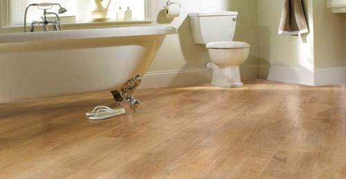Budget Bathroom Flooring - laminate