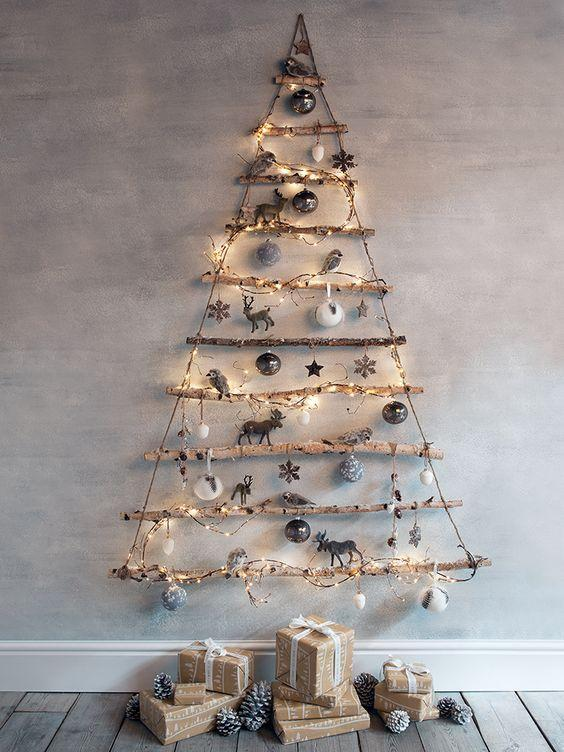Top 6 Alternative Christmas Tree Ideas - Rustic Tree