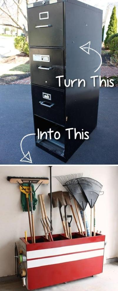 diy furniture hacks - garage storage
