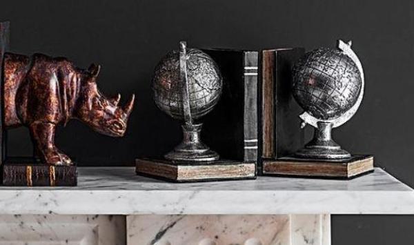 boho chic interior design - bookshelf