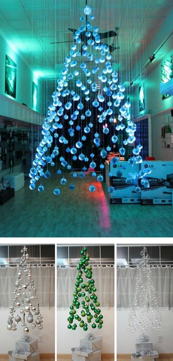 Top 6 Alternative Christmas Tree Ideas - Hanging Tree