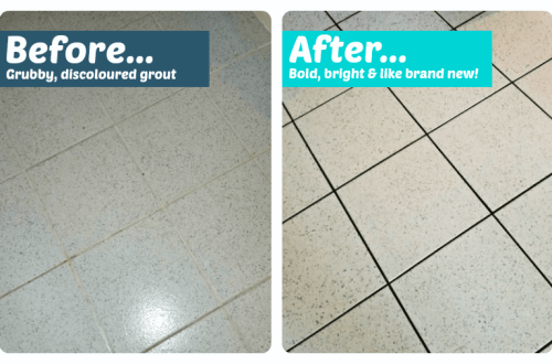 Budget Bathroom Flooring - tile grout pens