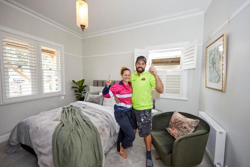 Daniel and Jade The Block 2020 Guest Bedroom