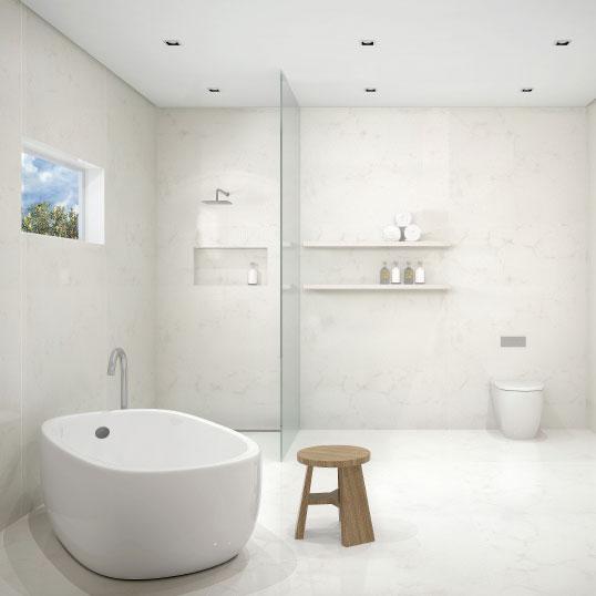 Caesarstone Grout free bathroom design