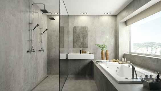 Dekton - Grout Free Bathroom porcelain sheets