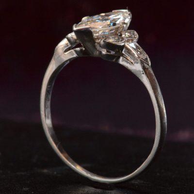 Marquise Art Deco Engagement Wedding Ring