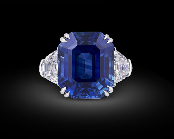 diamond ring asscher pin sapphire price ceylon cut platinum engagement prices rings famous gemstone