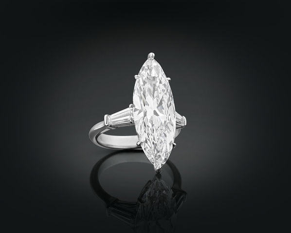Marquise Cut solitaire CZ Diamond Ring