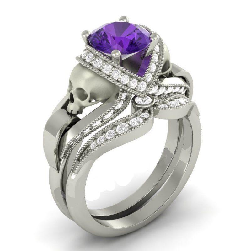 Purple Skull Ring