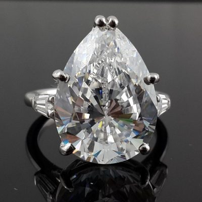 Pear Cut & Baguette Cocktail Party Ring inspired Ring