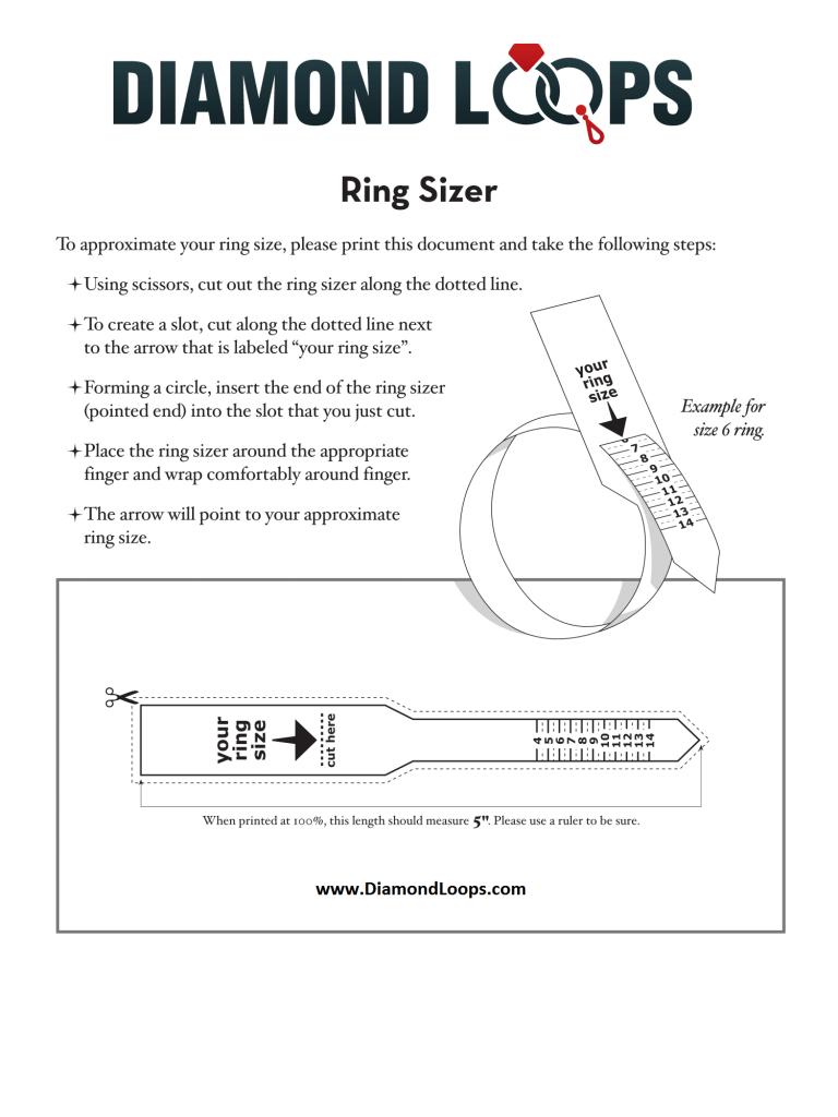 Diamond Loops Ring Size